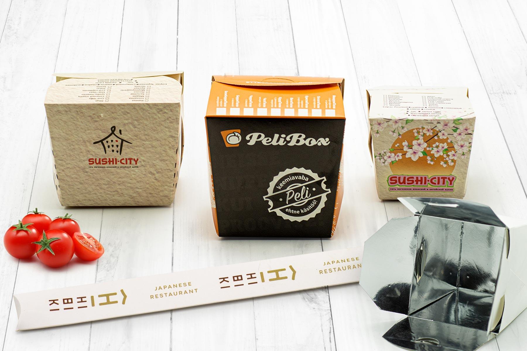 Фаст-фуд упаковка картон печать