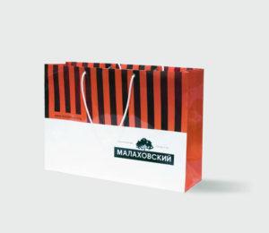 бумажный пакет с логотипом