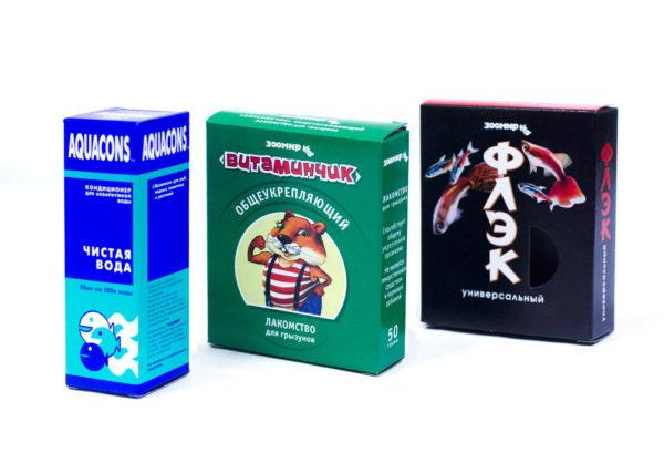 Упаковка-коробка корма для животных