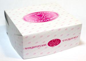 коробка для торта в печать