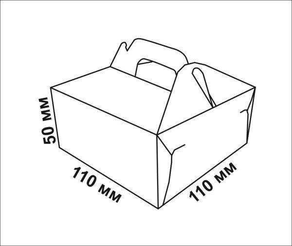Коробка для пончиков и вафель