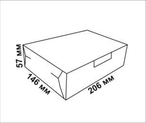 чертеж коробки для пирожных