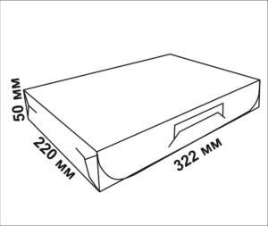 чертеж коробки для пончиков