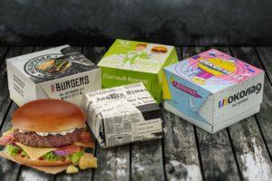 Упаковка для бургеров печать Бриз-Принт