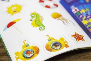 Журнал с наклейками печать